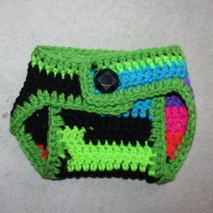 NWT 0-3 Month Electric Green Diaper Cover